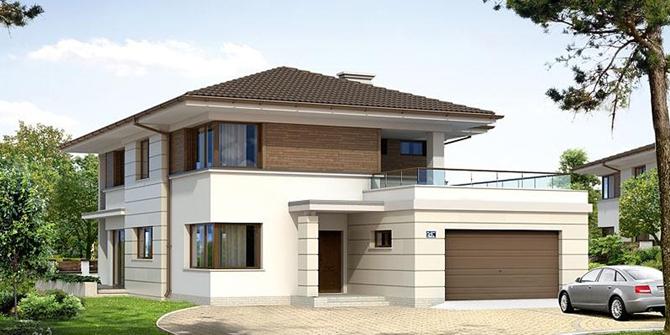 Не смотря на простоту и стандартность форм, дом очень функционален и его внутренне пространство максимально удобно для проживания, убраны все лишние